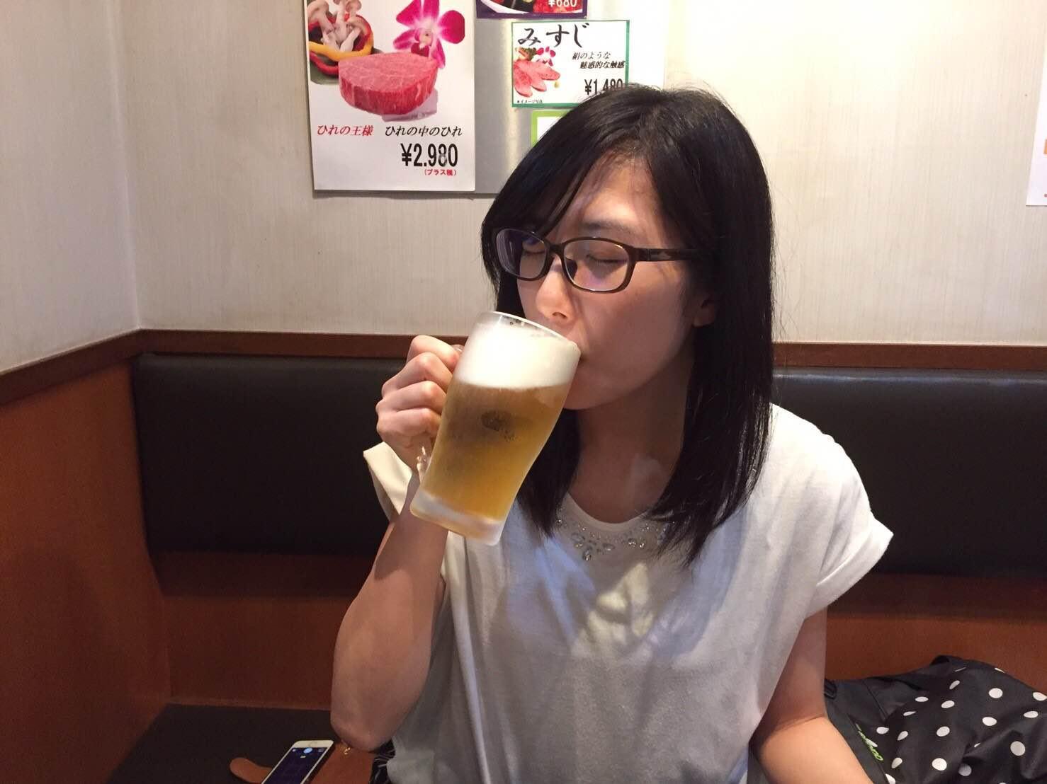 宮原駅近くの焼き肉やさんのビール