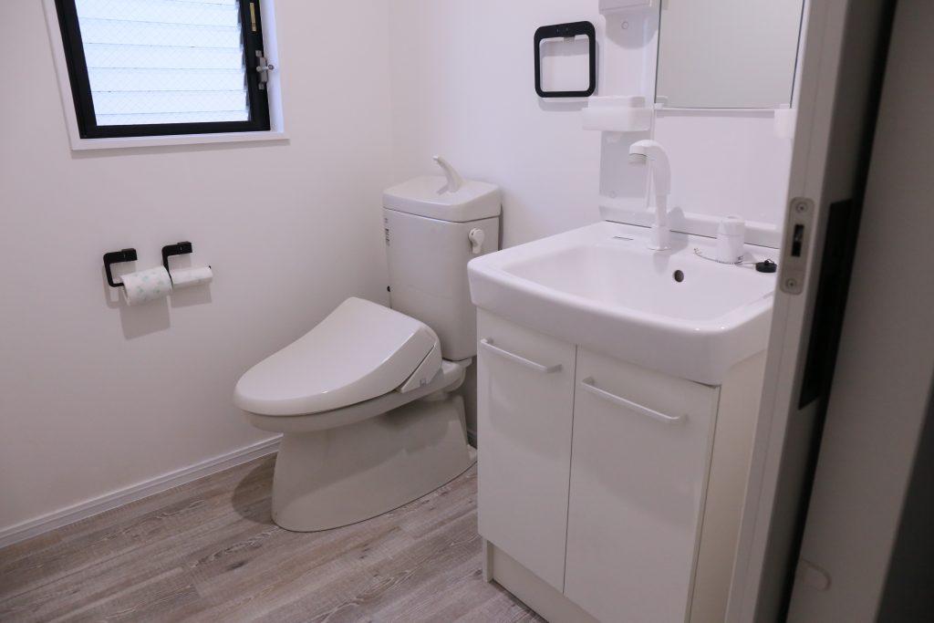 トイレも広く取りました