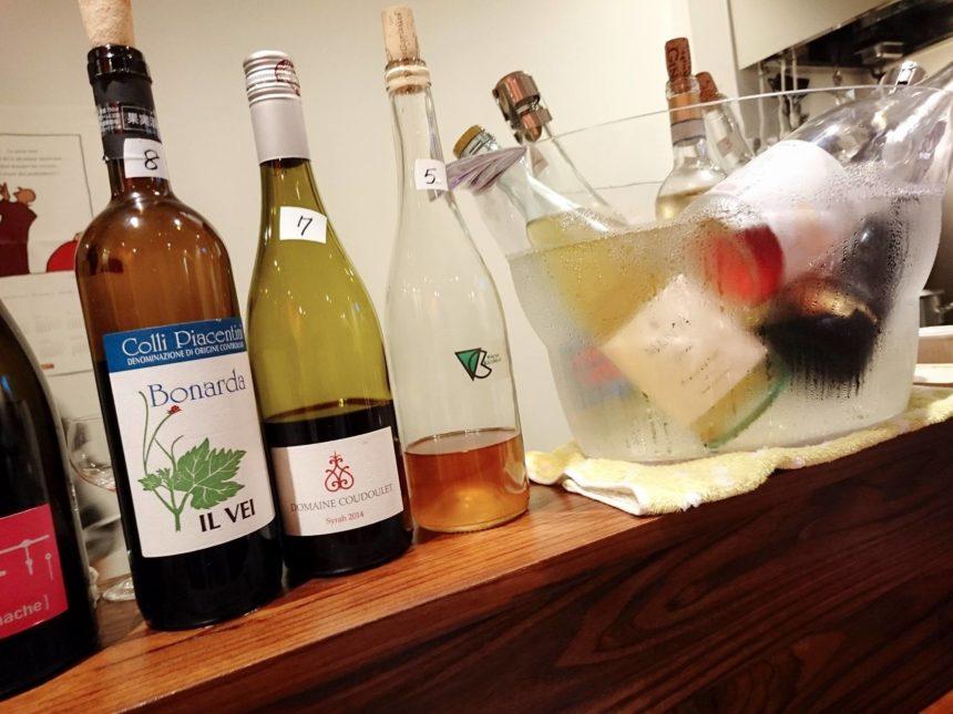 大宮ワイン居酒屋ネッコ・店内カウンター